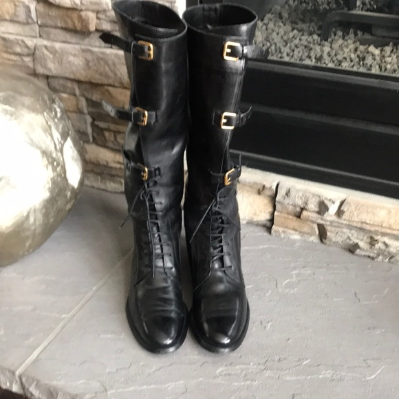 c29010dcac23 Burberry Shoes | Euc Bronte Lace Up Flat Boot 395 | Poshmark